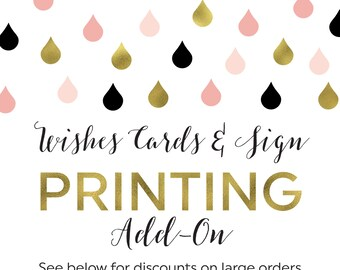 Printing Add-On for Wishes for the New Mrs. Cards and Sign