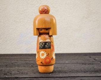 Vintage Japanese Kokeshi Wooden Doll / Wood Asian Figurine