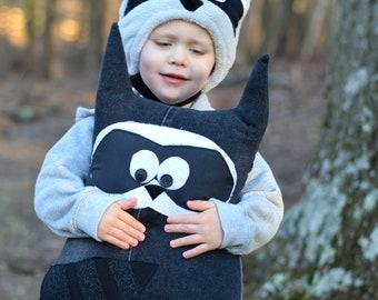 Raccoon Stuffed Animal - Raccoon Stuffie - Raccoon Plushie - Woodland Animal - Woodland Nursery - Raccoon Pillow - Baby Shower Gift