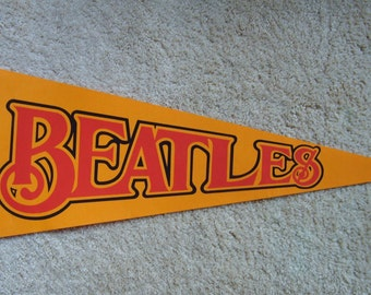 Beatles Pennant, Music Collectible, Wall Pennant, Beatles Memorabilia, Beatles Collectible