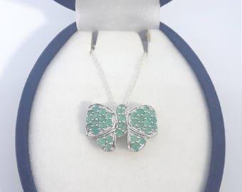 Emerald Ribbon Pendant