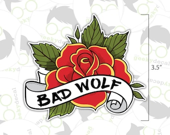 Sticker - Bad Wolf Rose - Doctor Who Inspired