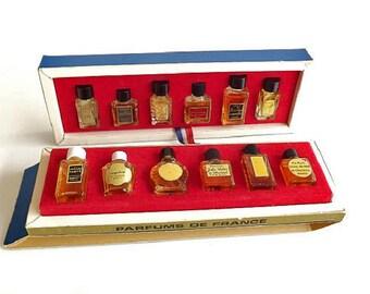 12 Vintage Perfume Set, Designer French Charles V Parfumeur, Made in Paris, France, France Parfums de France Box Set, Rare Perfume Fragrance