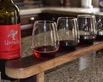 Barrel Stave Wine Tasting Flight