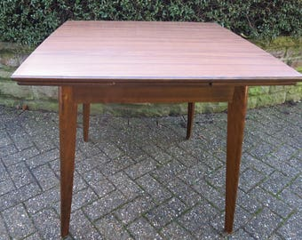 Vintage Kitchen Table from Wood with Formica Tabletop from the 50s