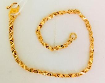 Classic link 22k solid 916 gold bracelet