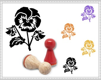 Rubber stamp PANSY Ø 15 mm