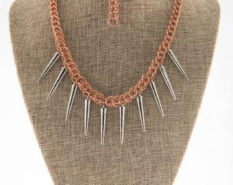 Copper Khaleesi Necklace and Bracelet Set