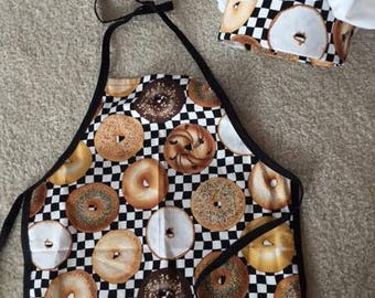 boys and girls dress up chef apron and chef hat
