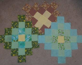 Vintage Quilt Blocks - Cube Pattern
