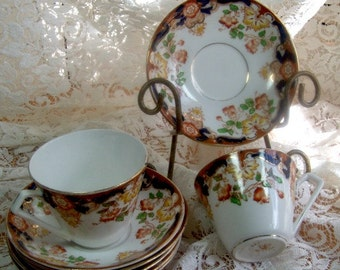 ROSINA CHINA - Rare 1946 Pattern - Two Tea Cups and Six S...