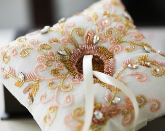 Rosegold Ring Bearer Pillow
