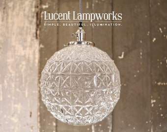 Crystal Style Globe Pendant -  12 Inch