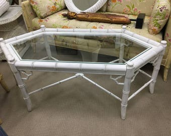 Thomasville Allegro Faux Bamboo Coffee Table