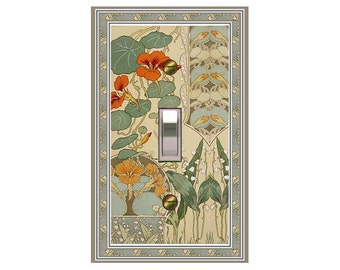 1484X - Botanical Illustration - mrs butler switch plate covers -