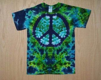 Childrens-Youth Peace Sign Tie Dye