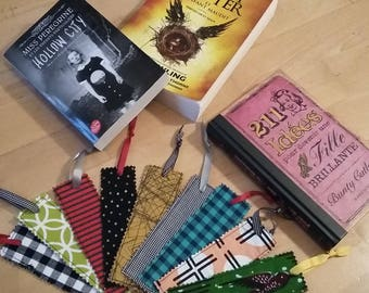 Fabric - fabric bookmark book mark