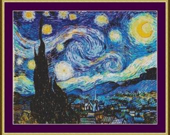 Starry Night - Counted Cross Stitch Pattern
