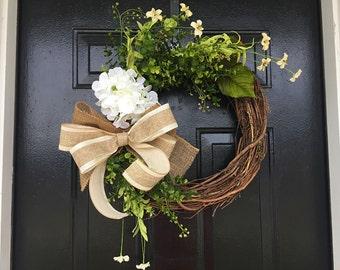 spring summer wreath, spring decor, summer door wreath, front door wreath, wreaths