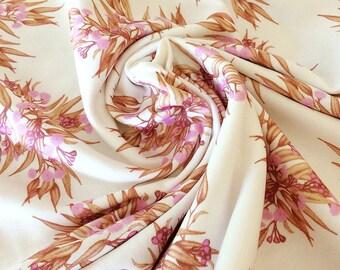 Jersey Knit Baby Blanket - Organic Cotton Eucalyptus Rose Gold Pink, Gumnuts & Blossoms, Australian Watercolour Botanical | Ready to Ship