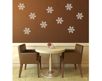 """Snowflakes Vinyl Wall Decal 6"""" Graphics Bedroom Home Decor"""