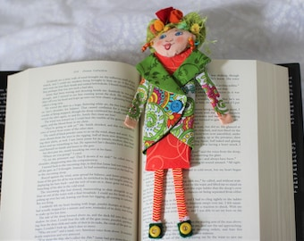 planner bookmark  journal bookmark OOAK art doll
