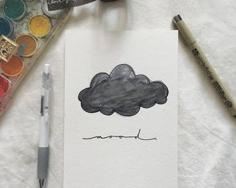 "Illustrated Print - ""Grey Mood"""
