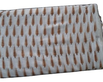 1 to 50 Yards(Print_150)Indian Block Printed 100% Cotton Printed Fabric