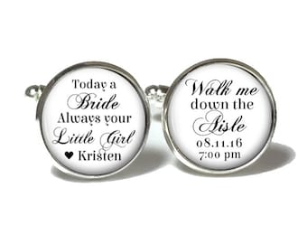 Father of the Bride Cufflinks, Wedding Cufflinks, Style 657