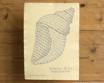Harmonie du Soir | Calligram Print on Handmade Paper