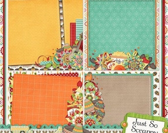 On Sale 50% Off Fiesta Stacked Backgrounds for Digital Scrapbooking