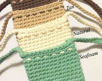 Cell Phone pouch - Cell phone holder - Cell Phone Purse - Phone pouch - crochet purse - phone holder - handmade purse - gift for mom -