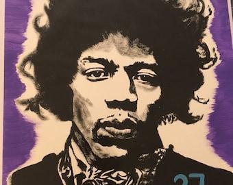 Jimi Hendrix 9x12 Painting