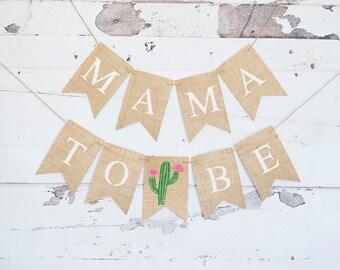 Cactus Baby Shower Decor, Fiesta Baby Shower Banner, Cactus Mama To Be Banner, Summer Baby Shower Garland, Cactus Gender Reveal Sign, B930