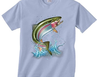 Action Rainbow Trout T-Shirt