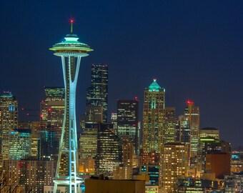 Seattle Skyline, Seattle Art, Fine Art Photography, Seattle Skyline Art