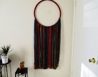 LARGE Dream Catcher *Woodland Ember* Yarn, Statement, Dreamy, Art, Decor