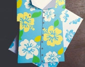INSTANT DOWNLOAD Father's Day Card Hawaiian Flower Shirt Funny Card DIY kids classroom Craft Fathers day activity printable card