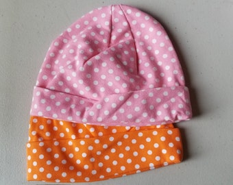 Small  Cotton Lycra Skull Caps. Infant. Toddler.  wholesale