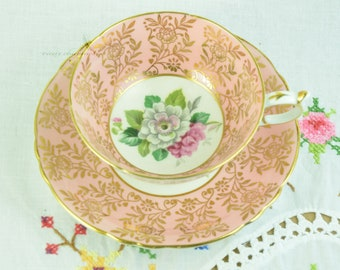 Hand painted Paragon cup and saucer