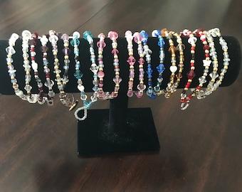 April crystal beaded bracelets by InspirationDecorByKP