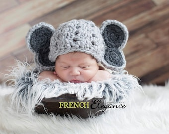 Baby Elephant Hat and Diaper Cover