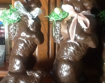 Chocolate bunny, faux chocolate bunnies, bunnies, Easter bunny, Easter decoration