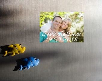 "8 x Save the Date photo magnets, 3"" x 2"", Polaroid, Personalised magnets, Instant photo style, Personalized Wedding"