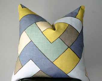 Decorative throw pillow, Geometric Pillow cover, Pillow, Cushion Cover, Designer Pillow, Pillows, Handmade
