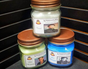 Supernatural 8oz Jar Trio Value Set: Dean, Sam, & Cas