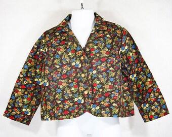 Vintage 70's Girl's Floral Spring Blazer Jacket