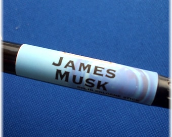 Solid COLOGNE Stick - JAMES MUSK - masculine musk scent by Man Cave Soapworks .99 shipping