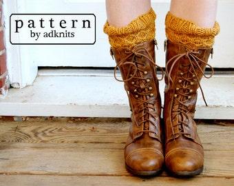 Boot Cuff Knitting Pattern, Honeycomb Style, Digital PDF Download File