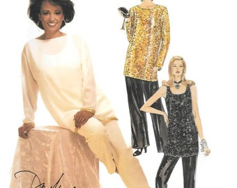 Loose Fitting Tunic, Top, Pull On Pants, McCalls 6842 Sizes 8-18 Designer Pattern Daphne Maxwell Reid, Mother of the Bride Pants Suit UNCUT